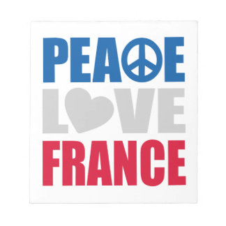 Peace Love France Memo Notepads