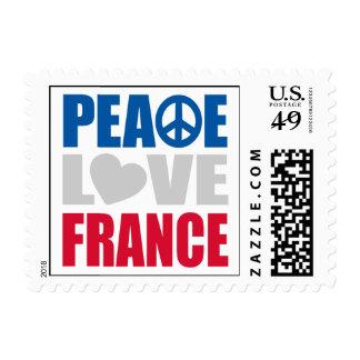 Peace Love France Postage Stamp