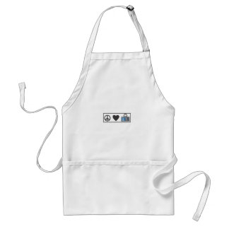 Peace Love Fred Adult Apron