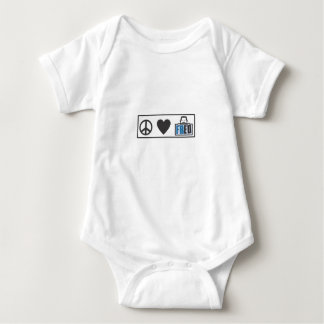 Peace Love Fred Baby Bodysuit