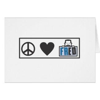 Peace Love Fred Card