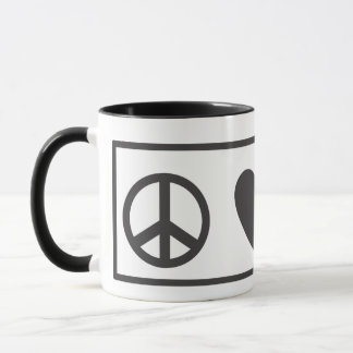 Peace Love Fred Mug