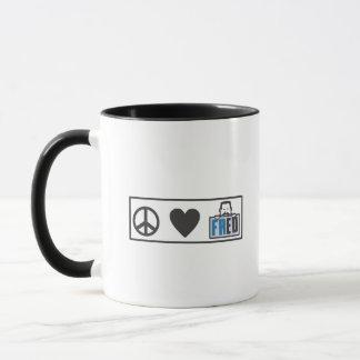 Peace Love Fred Mug