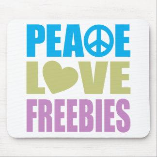 Peace Love Freebies Mouse Pads