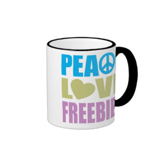 Peace Love Freebies Mugs