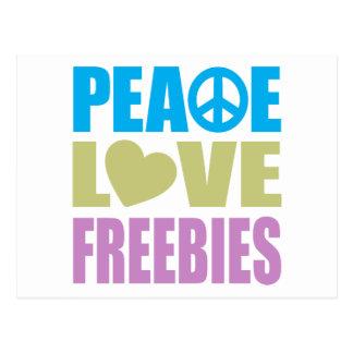 Peace Love Freebies Postcard