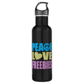 Peace Love Freebies Stainless Steel Water Bottle