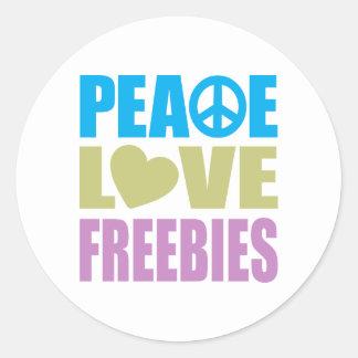 Peace Love Freebies Sticker