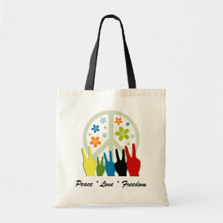 Peace Love Freedom Tote Bags