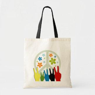 Peace Love Freedom Canvas Bag