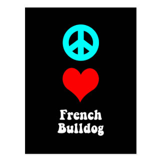 Peace love French Bulldog Postcards