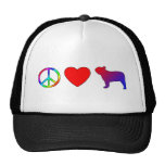 Peace Love French Bulldogs Mesh Hat