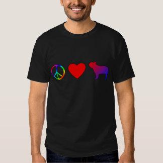 Peace Love French Bulldogs Shirt
