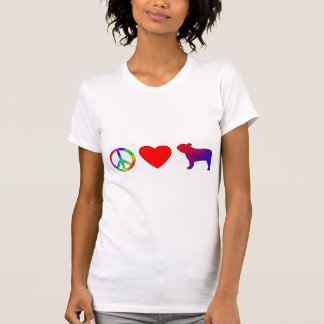 Peace Love French Bulldogs Tee Shirts