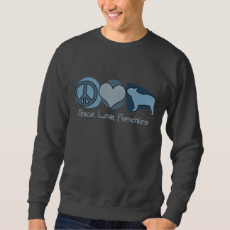 Peace, Love, Frenchies Embroidered Sweatshirt