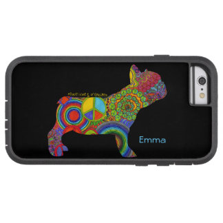 """""""Peace Love & Frenchies"""" Pop Art iPhone Case"""