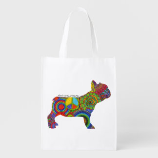 """""""Peace Love & Frenchies"""" Pop Art Tote"""
