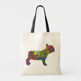 """""""Peace Love & Frenchies"""" Pop Art Tote Bag"""