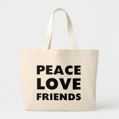 peace love friends tote bag from zazzle love friends 400x400