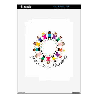 Peace Love Friendship Decals For iPad 2
