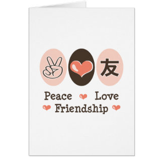 Peace Love Friendship Greeting Card