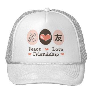 Peace Love Friendship Hat
