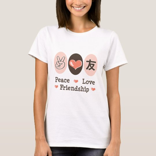Peace Love Friendship Kids T-shirt