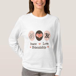 Peace Love Friendship Long Sleeve Tee Shirt