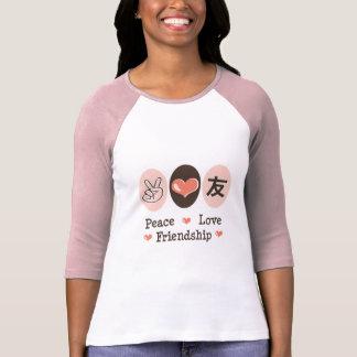 Peace Love Friendship Raglan T-shirt