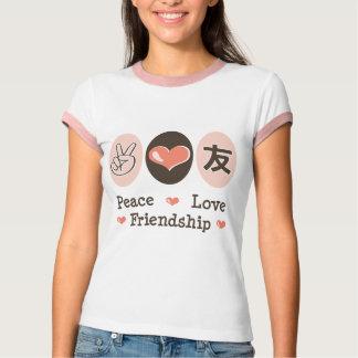 Peace Love Friendship Ringer Tee