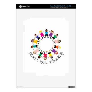 Peace Love Friendship iPad 3 Decal