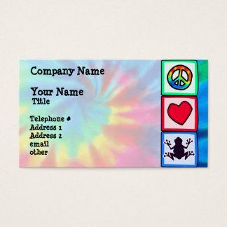 Peace, Love, Frogs Business Card