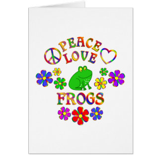 Peace Love Frogs Card