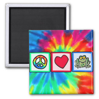 Peace Love Frogs Magnets