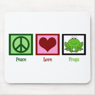 Peace Love Frogs Mouse Pad