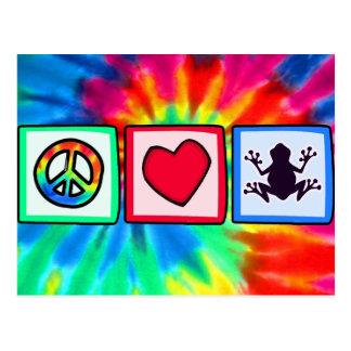 Peace, Love, Frogs Postcard
