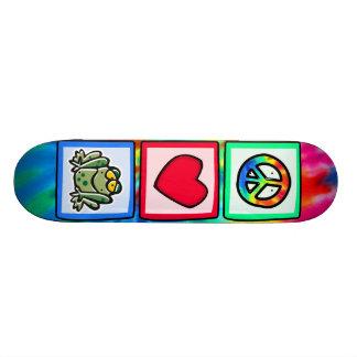 Peace, Love, Frogs Skateboard