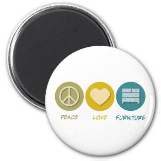 Peace Love Furniture 2 Inch Round Magnet