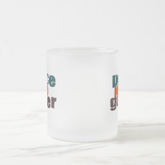 Peace Love Gamer Frosted Glass Coffee Mug