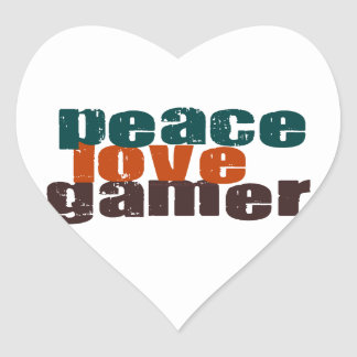 Peace Love Gamer Heart Sticker