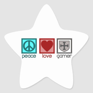 Peace Love Gamer Stickers