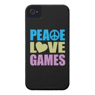Peace Love Games iPhone 4 Case-Mate Cases