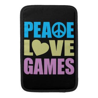 Peace Love Games MacBook Air Sleeves