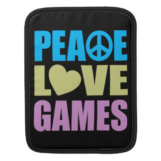 Peace Love Games Sleeve For iPads
