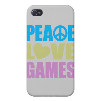 Peace Love Games Cases For iPhone 4