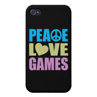 Peace Love Games iPhone 4 Cover