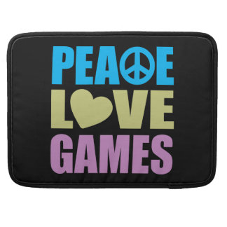 Peace Love Games Sleeve For MacBook Pro