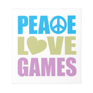 Peace Love Games Notepads