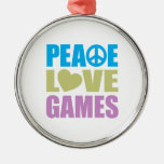 Peace Love Games Ornaments
