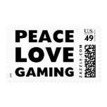 Peace Love Gaming Postage Stamps